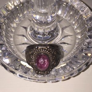 Jewelry - Pink and sterling silver ring